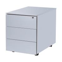 Caisson 43x54,5x57 cm 3 tiroirs aluminium