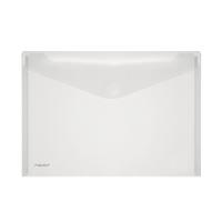 Foldersys enveloppes transparentes en PP A4 transparent - paquet de 10