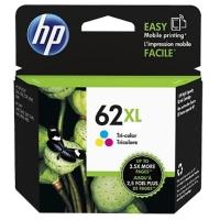 HP C2P07AE cartouche jet d encre nr.62XL couleurs Haute Capacité [415 pages]