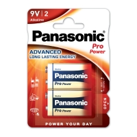Panasonic LR61/9V Pro Power alkaline batterie -paquet de 2