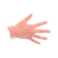 CMT VI202 gants jetables en vinyl non poudré blanc - taille M - 100 pièces