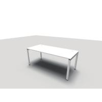 Bureau Conect 80x180 cm avec pieds bridge - blanc
