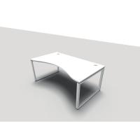 Bureau Conect Wave 100x180 cm avec pieds Bridge réglables - blanc