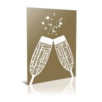 Cartes de voeux felicitations Néerlandais/Français/Anglais/Allemand - pack de 6