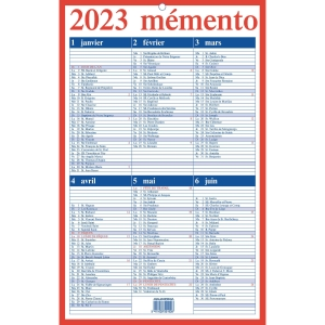 Aurora calendrier Memento FR 21x33cm