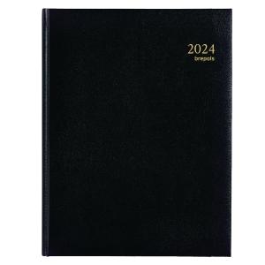 Brepols Concorde 240 agenda de bureau couverture Lima noire