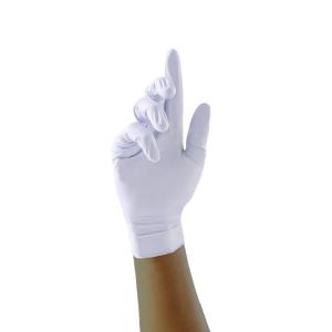 Gants jetable Unigloves Pearl sans poudre nitrile blanc taille L - boîte de 100