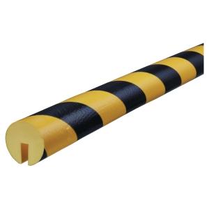 Profile de protection pour bords Knuffi Type B PU 1m noir/jaune