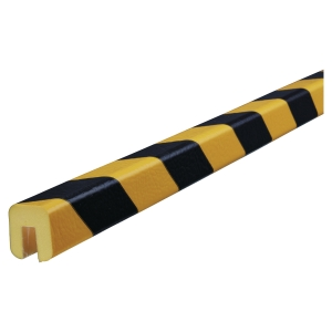 Profile de protection pour bords Knuffi Type G PU 1m noir/jaune