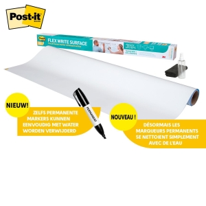Rouleau tableau blanc Post-it® Super Sticky Dry Erase DEF3X2, 60,9 x 91,4 cm