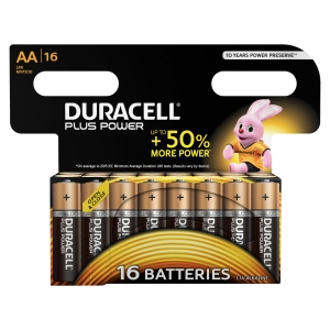 PLUS POWER PILES AA DURACELL - PAQUET DE 16