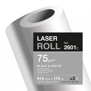 Clairefontaine 2601C papier pour traceurs 91,4x175 75g - paquet de 2