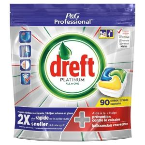 TABLETTES DE vaisselle DREFT PLATINUM CITRON - LE PAQUET DE 90