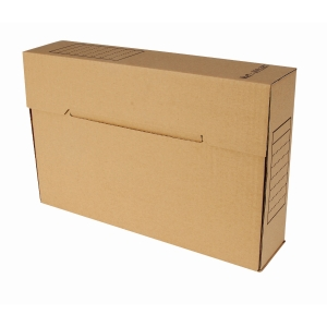 Boîte d archives folio 35x23xdos 8cm carton ondulé