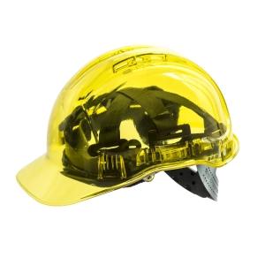 Casque de sécurité translucide Portwest Peak View PV54, jaune