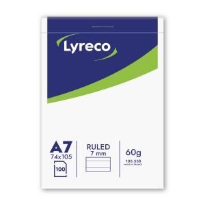 Lyreco bloc de bureau A7 ligné agrafé 100 feuilles