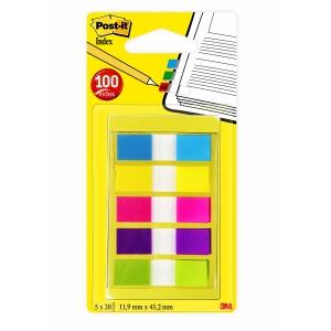 Post-it 6835CB index marque-pages 12x43mm 5 couleurs