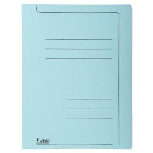 Exacompta fardes à glissière A4 carton 275g bleu - paquet de 10