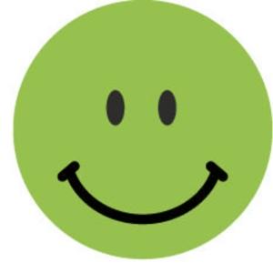 Smiley d appréciation autocollant Avery vert - paquet de 250