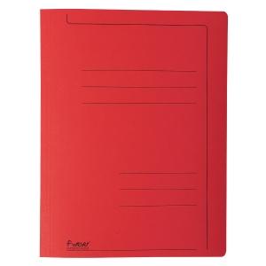 Exacompta fardes à glissière A4 carton 275g rouge - paquet de 10