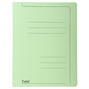 Exacompta fardes à glissière A4 carton 275g vert - paquet de 10
