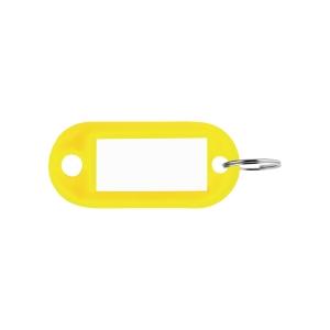 Porte-clés en plastique jaune - paquet de 100