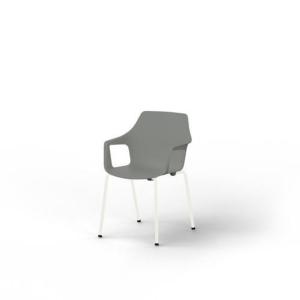 Chaise gris EOL Gelati avec accoudoirs