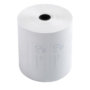 Bobine papier thermique - 1 pli -80x80mm x 76m - sans BPA - lot de 10