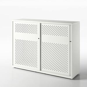 Armoire à portes coulissantes Bisley acoustiques blanc