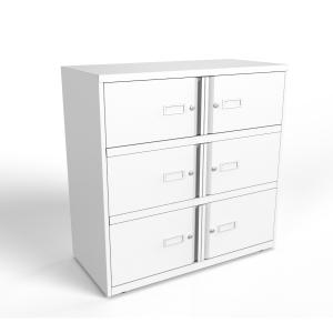 Vestiaires Bisley Essentiel 6 compartiments blanc