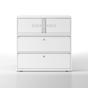 Vestiaires Bisley Essentiel 2 compartiments et 2 tiroirs blanc