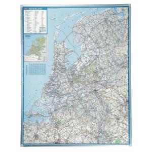 Legamaster Falkplan carte murale routiere Pays-Bas 101x130cm