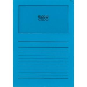 Elco 420502 Ordo pochettes coins avec fenêtre bleues - boîte de 100