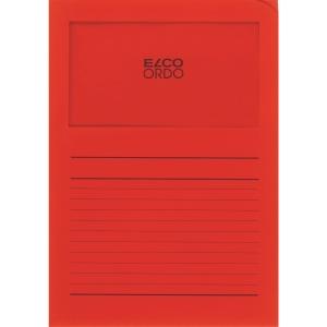Elco 420507 Ordo pochettes coins avec fenêtre rouges - boîte de 100