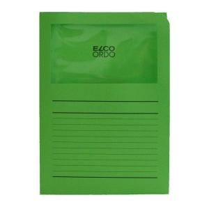 Elco 420504 Ordo pochettes coins avec fenêtre vertes - boîte de 100