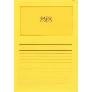 Elco 420505 Ordo pochettes coins avec fenêtre jaunes - boîte de 100