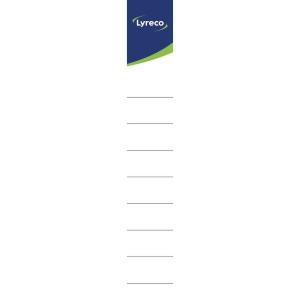 Lyreco étiquettes autocollantes pour classeurs 40mm - paquet de 10