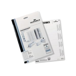 Durable 1453 cartes à insérer pour badge 75x40mm - 12 par flle - boite de 240
