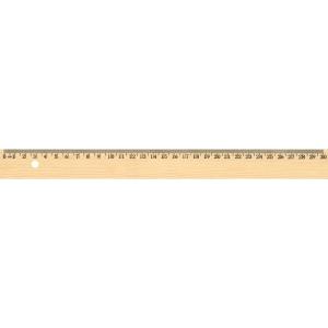 Règle scolaire écologique en hêtre naturel 30 cm