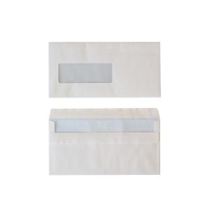 Enveloppes standard 114x229mm autocollantes fenêtre à gauche 80g - boite de 500