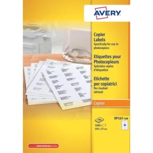 Avery DP167 étiquettes pour photocopieurs 105x37mm - boite de 1600