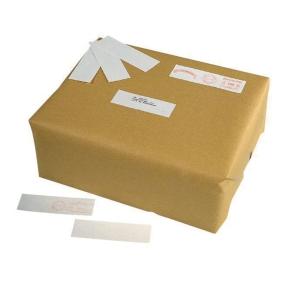 Etiquettes à affranchir pour expédition 140x40mm blanches - boite de 500