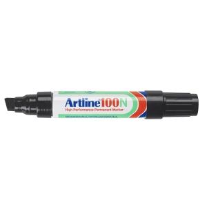 Artline 100N marqueur permanent pointe biseautée 7,5 - 12mm noir
