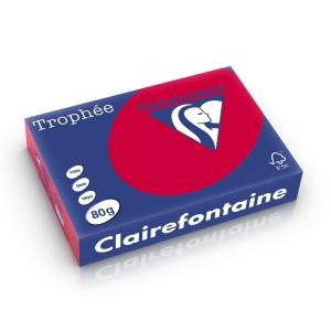 Clairefontaine Trophée 1782 papier couleur A4 80g rouge groseille-ram.500 flls