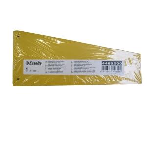 Esselte intercalaire trapèze carton 220gr jaune - paquet de 100