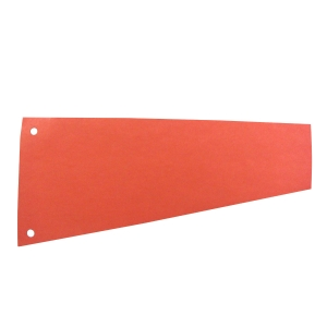 Esselte intercalaire trapèze carton 220gr rouge - paquet de 100