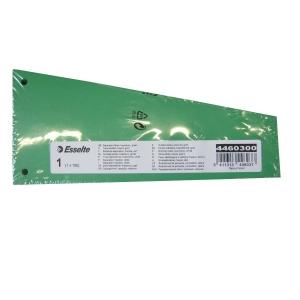 Esselte intercalaire trapèze carton 220gr vert - paquet de 100