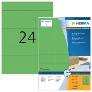 Herma 4409 étiquettes colorées 70x37mm vert - boite de 2400