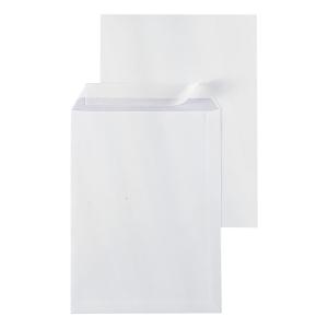 Pochettes 240x340mm bande siliconée 120g extra blanches - boite de 250