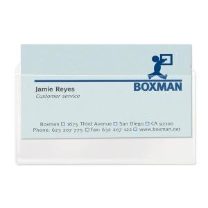 3L pochettes porte-cartes de visite autocollantes 105x60mm - paquet de 10